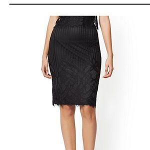 Lace pencil skirt.